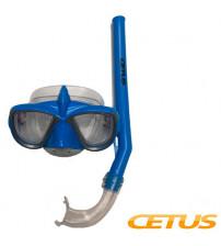 Kit Mergulho Infantil Cetus PVC Tubarão