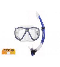 ea902e6bd Kit de Mergulho Cetus Icaro Mascara + Snorkel - Azul