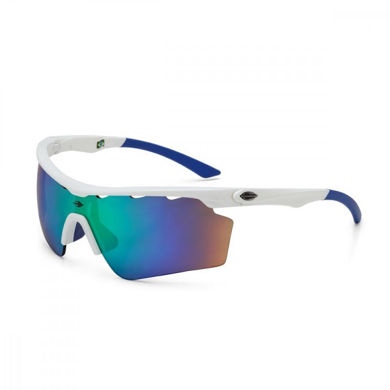 Oculos de Sol Mormaii Athlon V - Branco Azul 9dc7741c32