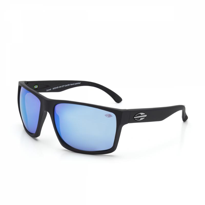 1c96ffeeb Oculos de Sol Mormaii Carmel Fosco Preto/Azul