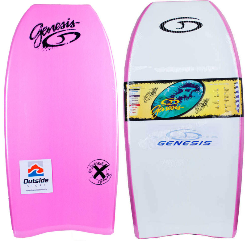 Prancha Bodyboard Genesis Extreme - Rosa Branco bd64fcd67ff