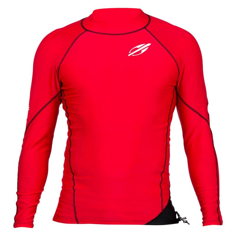 Camisa Longa Mormaii Poliamida Elastano Snap UV50+ - Vermelho Preto 83962a375d