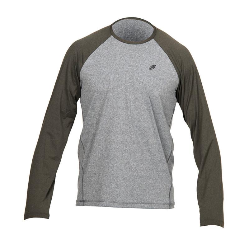 2f220895a5128 Camisa Com Proteção Solar Mormaii UV50+ Dry Flex Masculina - Verde Cinza