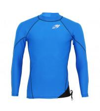 645bbdfdb5ddd Camisa Longa Mormaii Poliamida Elastano Snap UV50+ - Azul Preto