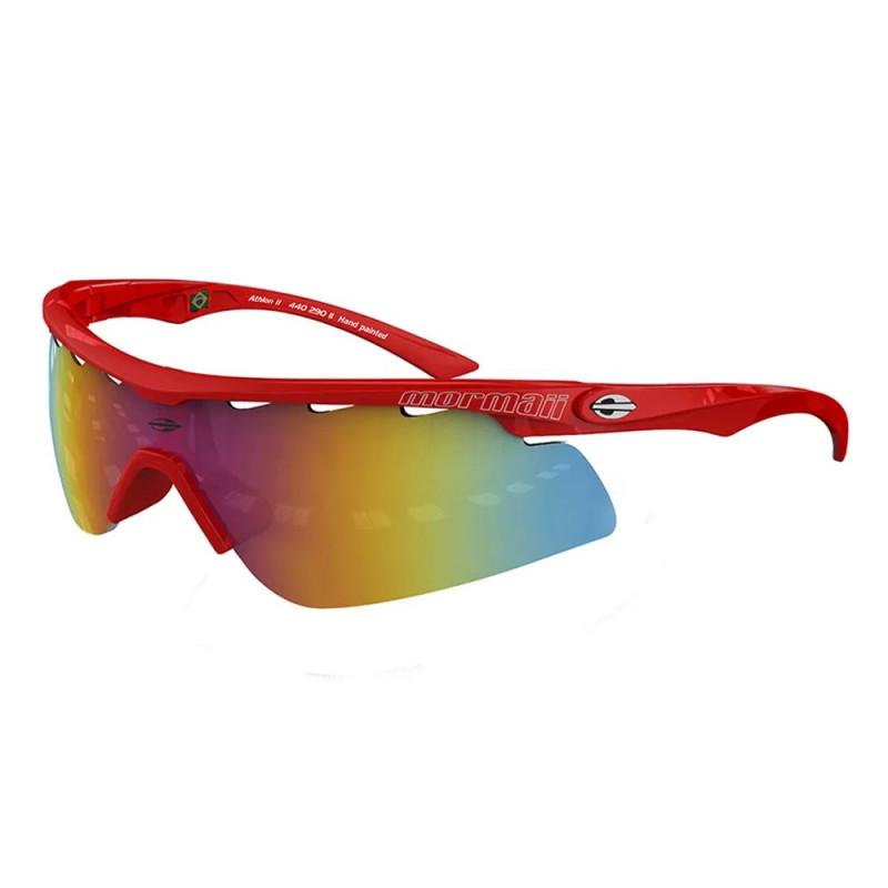 Óculos Sol Mormaii Athlon 2 Vermelho Tamp Prata L Cinza Fl Vermelho 678a1739b7