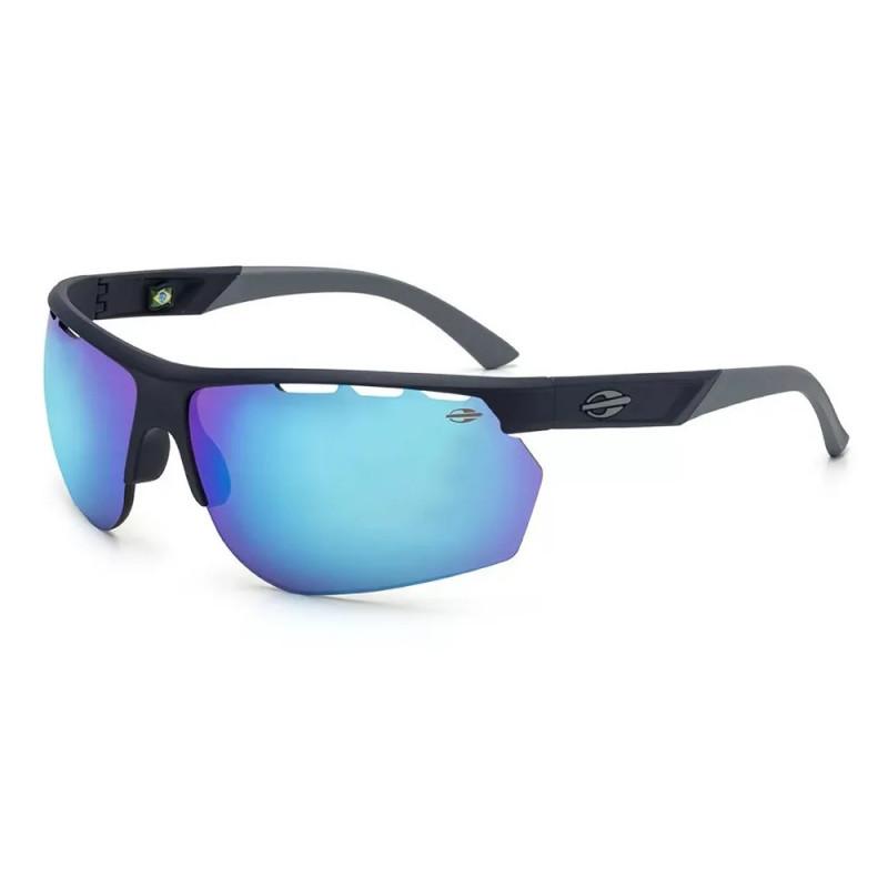 236fa51db Óculos de Sol Mormaii Thunder - Marinho Fosco/Revo Azul