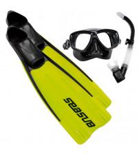 Kit de Mergulho Seasub Silicone Velox - Limão