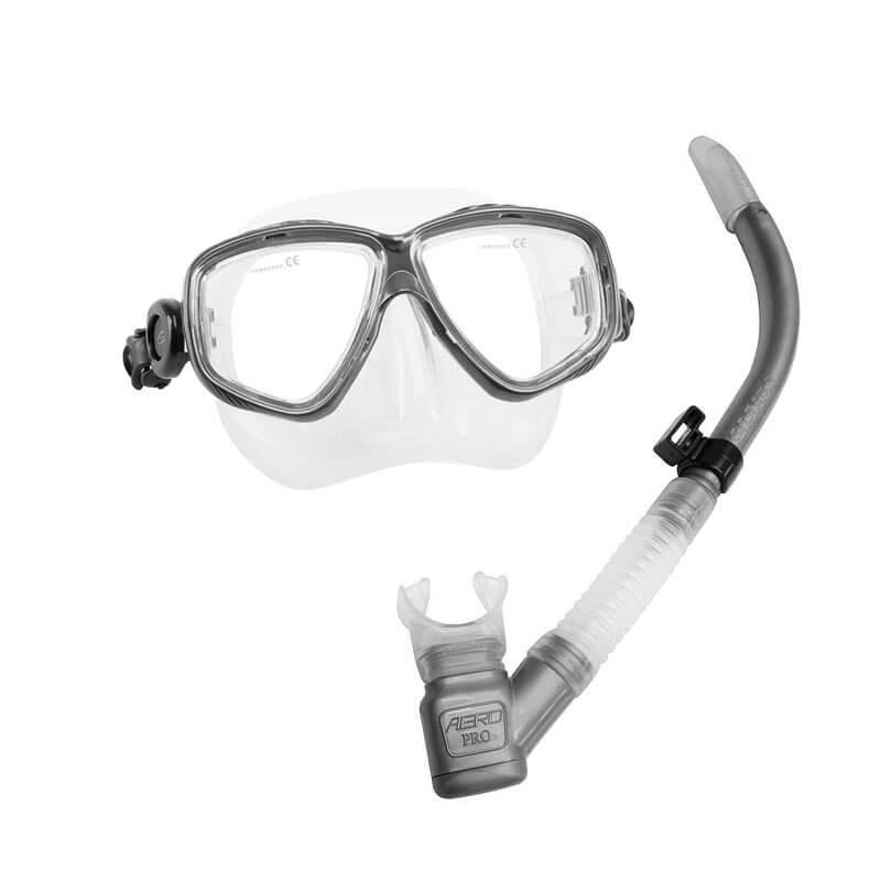 Kit de Mergulho Seasub Prata Máscara Splenda + Respirador Aero Pro fa6939343e